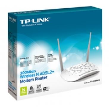TP-LINK 300Mbps Wireless N ADSL2+ Modem Router, 4 FE LAN ports, ADSL/ADSL2/ADSL2+, Annex A
