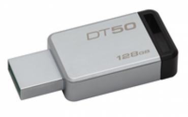 Kingston Pen Drive 128GB DataTraveler 50 USB 3.0 Metal/Black