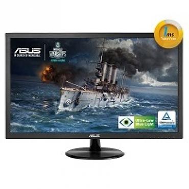 "Asus ""VP247T - Monitor LED - 23.6"""" - 1920 x 1080 FullHD - 250 cd m2 - 100000000:1 - 1ms - DVI-D  D-Sub - Colunas - VESA - GamePlus - EyeCare (ULBL) -TCO"""