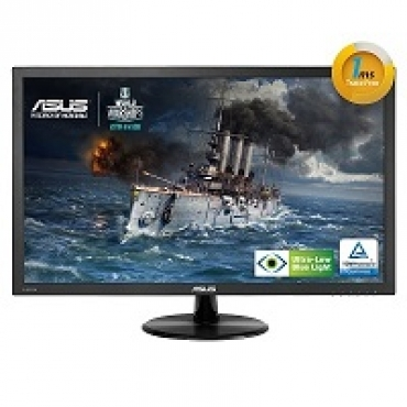 "Asus ""VP228H - Monitor LED 21.5"""" - 1920 x 1080 FullHD - 250 cd m2 - 100000000:1 - 1ms - HDMI  DVI-D   D-Sub - Colunas - VESA - Eye Care (ULBL) - TCO"""