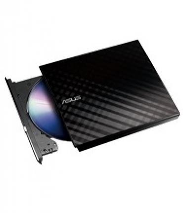 Asus SDRW-08D2S-U LITE/BLK/G/AS USB 2.0 - Gravador DVD Slim 8x externo USB - Preto