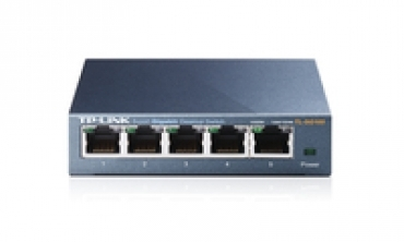 TP-LINK 5-Port Gigabit Desktop Easy Smart Switch  5 10/100/1000Mbps RJ45 ports  MTU/Port/Tag-based VLAN  QoS  IGMP Snooping