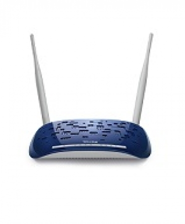 TP-LINK 4-port 300Mbps Wireless N ADSL2+ Modem Router  ADSL/ADSL2/ADSL2+  Annex A  with ADSL splitter  802.11n/g/b  2 detachable antennas