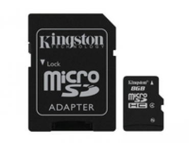 Kingston Micro SD card 8GB Alta Capacidade - com adaptador SD