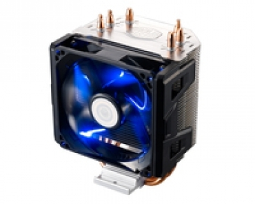 Cooler_Master Hyper 103  exclusive X-vent and Air Guide tecnology that optimize air flow towards heatpipes and ultimatly reduce CPU temps  3 direct heatpipe  92mm PWM Blue Led Fan . Suports Intel® LGA 2011/1366/115