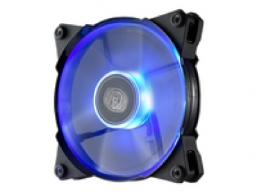 Cooler_Master Jet Flow 120mm Blue Led  800-2000RPM  95 CFM  Rubber pads  w/ silent adapter: 1600/1200 RPM (fixed)  POM Bearing - CM 4th Gen. Bearing
