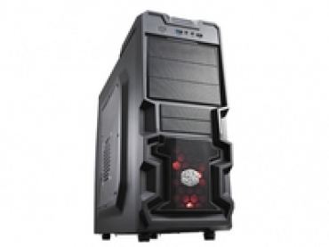 Cooler_Master K380  Mesh and honeycomb vent on front panel for superior cooling  Supports up to 4 fans. One silent 120mm red LED fan included  Super speed USB 3.0 port  7 HDD bays (3 tool-less)  Supports high-end g