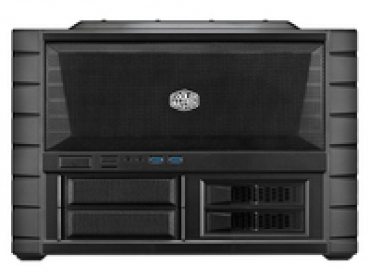 Cooler_Master HAF XB EVO  LAN Box and Test Bench  Supports 240mm radiators  Dual USB 3.0  Rigid carry handles   up to 4 HDDs or SSDs   Removable M B tray  Includes two XtraFlo 120mm fans  X-Dock bays in the front.
