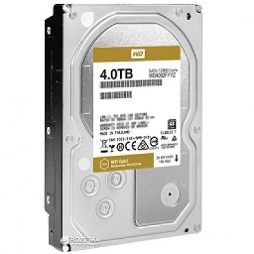 "Western_Digital ""HDD 4TB Datacentre Gold  128mb cache  SATA 6gb s 7200RPM  3.5"""""""