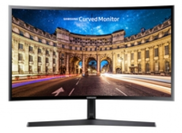 Samsung C27F396 - Monitor Curved VA 27  Resolução  1920x1080 FHD  Brilho  250cd/m2  Tempo de resposta  250cd/m2  1 x D-Sub  1 x HDMI