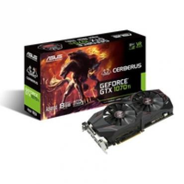 Asus CERBERUS-GTX1070TI-A8G - GF GTX1070TI, 8GB GDDR5, 1X Native Dual-link DVI-D (HDCP support), 2*Native (2.0), PCI-E 3.0