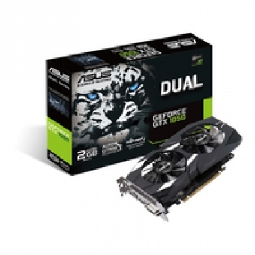 Asus DUAL-GTX1050-2G-V2, DDR5 2GB, 128BIT, 1455MHZ/1354MHZ, 7008MHZ, DUAL-LINK DVI-D