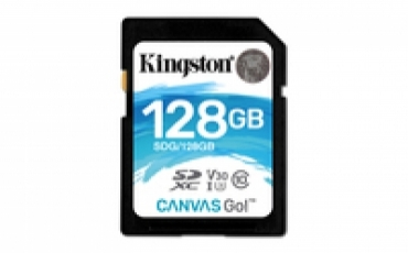 Kingston SD Card 128GB Canvas Go! Class 10 UHS-I U3