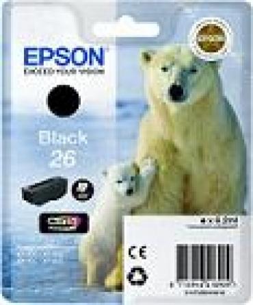 Epson Tinteiro Preto Foto Série 26 Urso Polar Tinta Claria Premium (c/alarme RF+AM) - preço válido até fim de stock das unid pré-estabelecidas p/ a promoção  e faturadas até 30 de Março