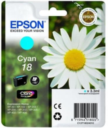 Epson Tinteiro Cyan Expression Home XP-102/XP-205/XP-305/XP-405