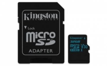 Kingston MicroSDHC 32GB  Canvas Go! Class 10 UHS-I U3  + SD Adapter