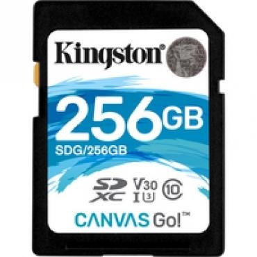 Kingston SD Card 256GB Canvas Go! Class 10 UHS-I U3