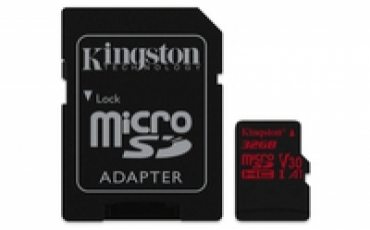 Kingston Micro SDHC 32GB  Canvas React  100R/70W U3 UHS-I V30 A1 Card   SD Adptr