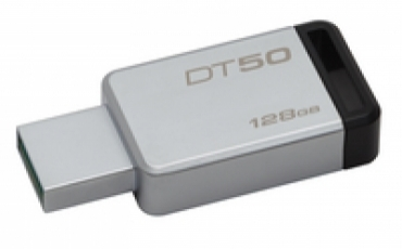 Kingston Pen Drive 128GB DataTraveler 50 USB 3.0 Metal/Black