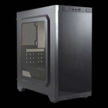UNYKAch Caixa  AERO C21 MicroAtx  Gaming Preto sem fonte
