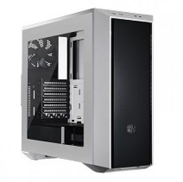 Cooler_Master MasterBox 5 White  dark mirror front panel  window included  USB 3.0x2  2x 120mm case fan included. Easily Adjust Interior Layout. (5 25  Bay not included)