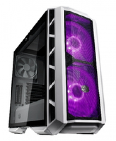 Cooler_Master MasterCase H500P Mesh White Edition  2x 200mm RGB fan on front included  tempered glass side panel  up to 360mm radiator on the top and front
