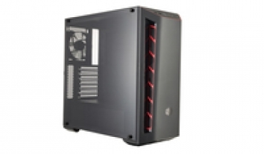 Cooler_Master MasterBox MB510L  Carbon texture  Agressive Intakes  Window  up to 6 case fans  VGA up to 400mm  Red Version