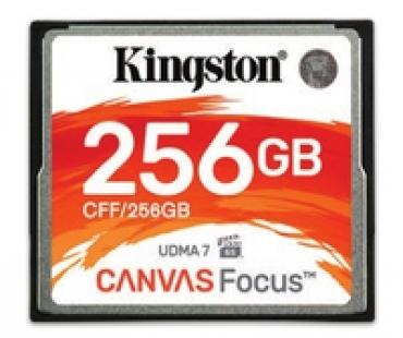 Kingston CompactFlash 256GB Canvas Focus up to 150R/130W UDMA7 VPG-65