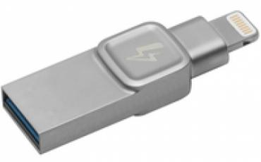 Kingston Data Traveler BOLT DUO 32GB for IPHONE  IPAD PHOTO/VIDEO STORAGE: LIGHTNING USB 3.0