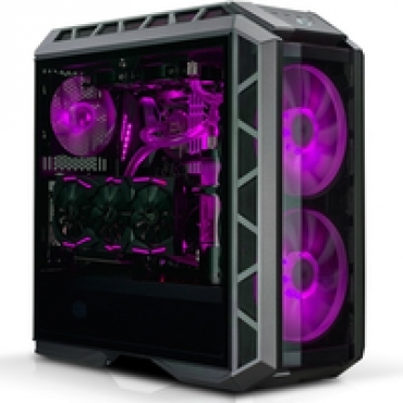 Cooler_Master MasterCase H500P  2x 200mm RGB fan on front included  tempered glass side panel  up to 360mm radiator on the top and front