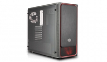Cooler_Master MasterBox E500L (RED)  Front Slide Panel  1x Front 120mm Led Fan included + 1x120mm rear  Acrylic side panel