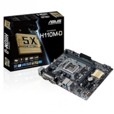 Asus H110M-D - Intel H110  LGA1151  2DDR4 (Dual Channel)  microATX