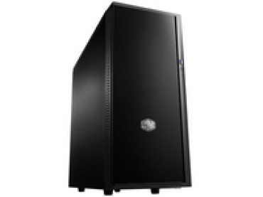 Cooler_Master Silencio 452  matte front   side panels are equipped with noise absorbing materials  Two pre-installed 120mm fans  Liquid cooling ready  Dual Super Speed USB 3.0 & SD card reader  support of up to 6 H