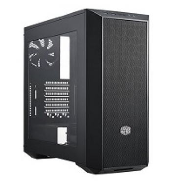 Cooler_Master MasterBox 5 Black  seamless mesh  window included  USB 3.0x2  2x 120mm case fan included. Easily Adjust Interior Layout.  (5 25  Bay not included)