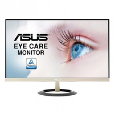 "Asus ""VZ239Q - 23"""" Monitor  FHD (1920x1080)  IPS  Ultra-Slim Design  5ms  250cd/?  HDMI  Flicker free  Low Blue Light  TUV certified - Black + Icicle gold"""