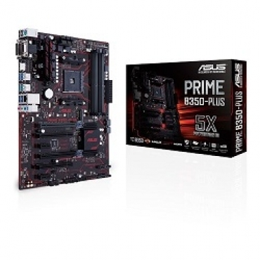 Asus PRIME B350 PLUS - AMD Ryzen socket AM4  4DDR4 266/2400/2133  6SATA 1M.2  ATX