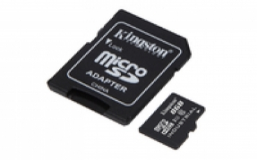 Kingston Micro SDHC 8GB  UHS-I Class 10 Industrial Temp Card + SD Adapter