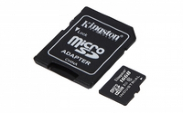 Kingston Micro SDHC 16GB  UHS-I Class 10 Industrial Temp Card + SD Adapter