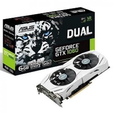 Asus DUAL-GTX1060-6G - GFGTX 1060, PCI-E 3.0