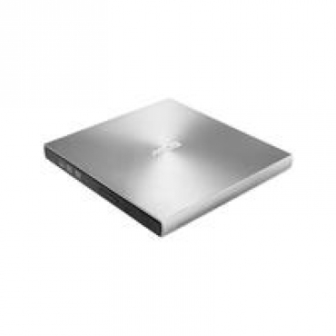 Asus SDRW-08U9M-U/SIL/G/AS/P2G - External ultraslim 8X DVD writer, USB Type C + Type A cable, Mac Compatible, 13.9mm Ultraslim, M-DISC support, Disc Encryption, NERO Backitup, E-Green, E-Media - Silver