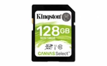 Kingston SD Card HC 128GB Canvas Select 80R CL10 UHS-I