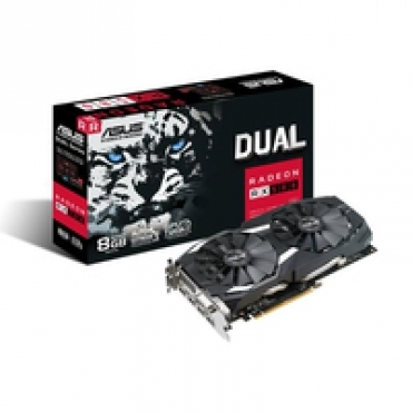 Asus DUAL-RX580-8G - Radeon RX580, 8GB GDDR5, 1X Native Dual-link DVI-D (HDCP support), PCI-E 3.0